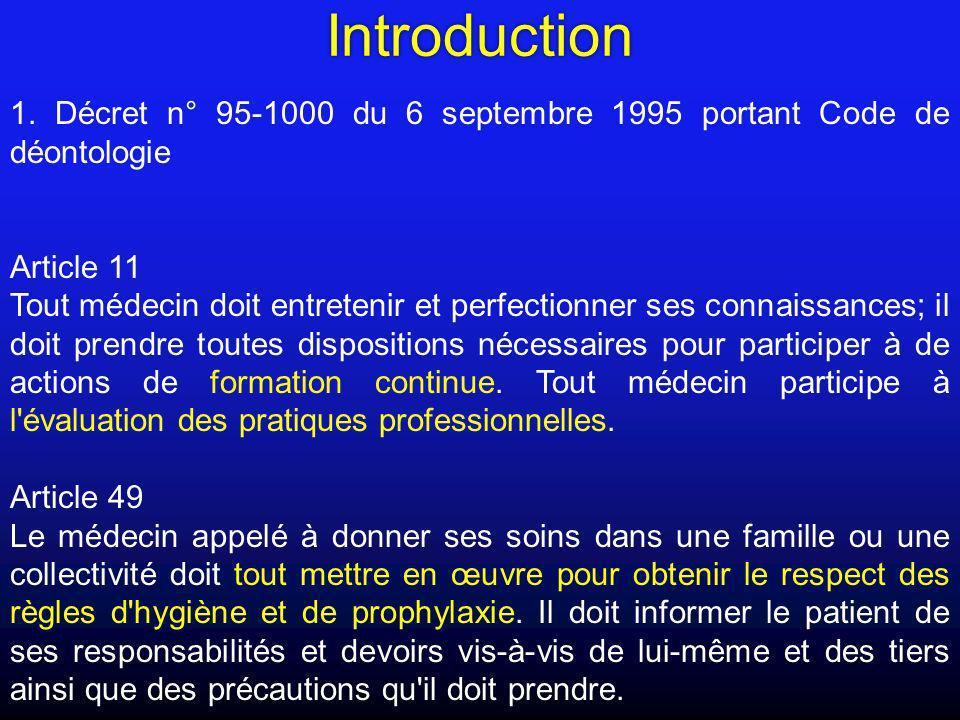 Introduction1. Décret n° 95-1000 du 6 septembre 1995 portant Code de déontologie. Article 11.