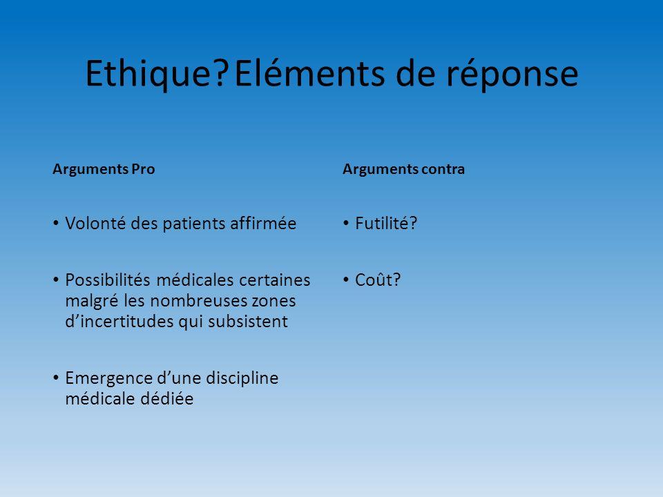 Ethique Eléments de réponse