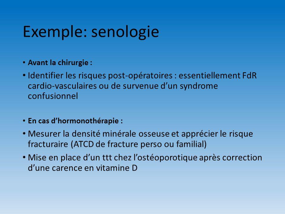Exemple: senologieAvant la chirurgie :