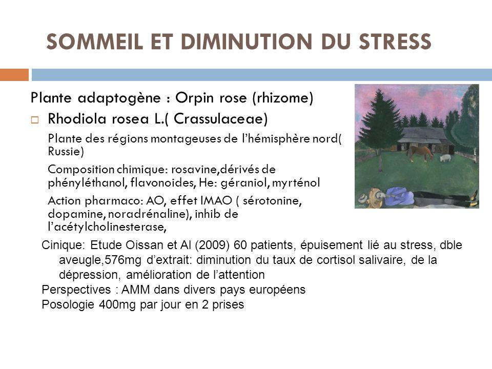 SOMMEIL ET DIMINUTION DU STRESS