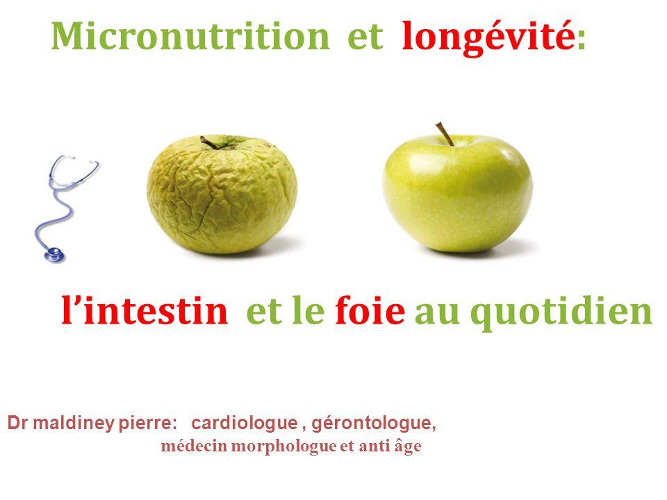 Micronutrition et longévité: l'intestin et le foie au quotidien