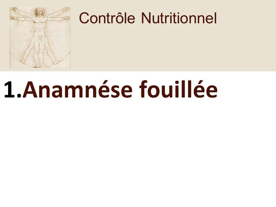 Contrôle Nutritionnel