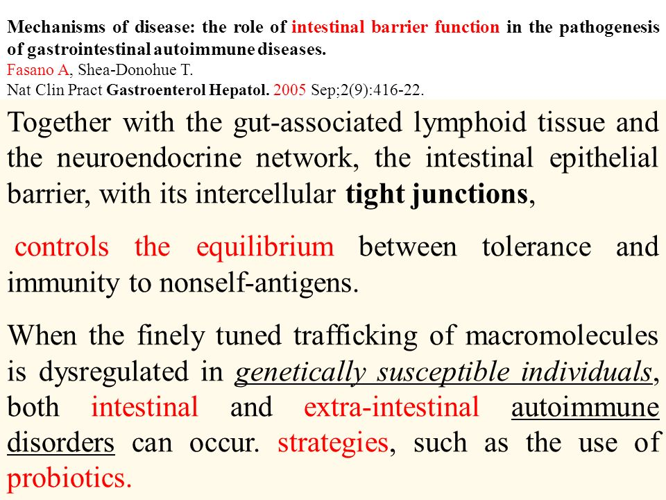 Mechanisms of disease: the role of intestinal barrier function in the pathogenesis of gastrointestinal autoimmune diseases.