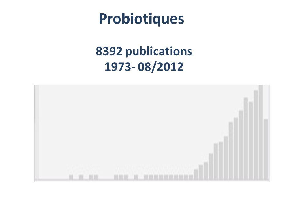 Probiotiques 8392 publications 1973- 08/2012