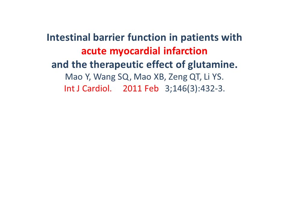 Intestinal barrier function in patients with