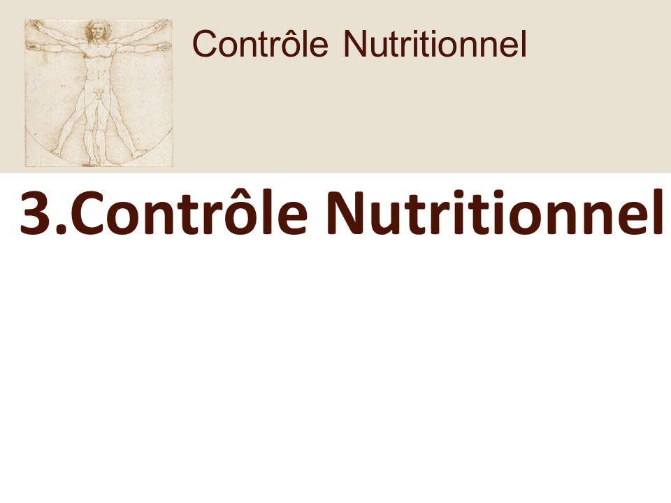 3.Contrôle Nutritionnel