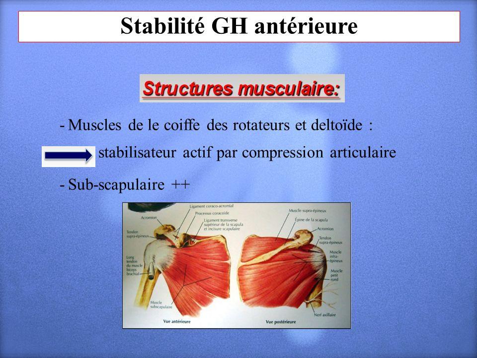 Stabilité GH antérieure