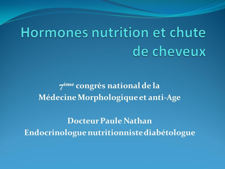 Hormones nutrition et chute de cheveux