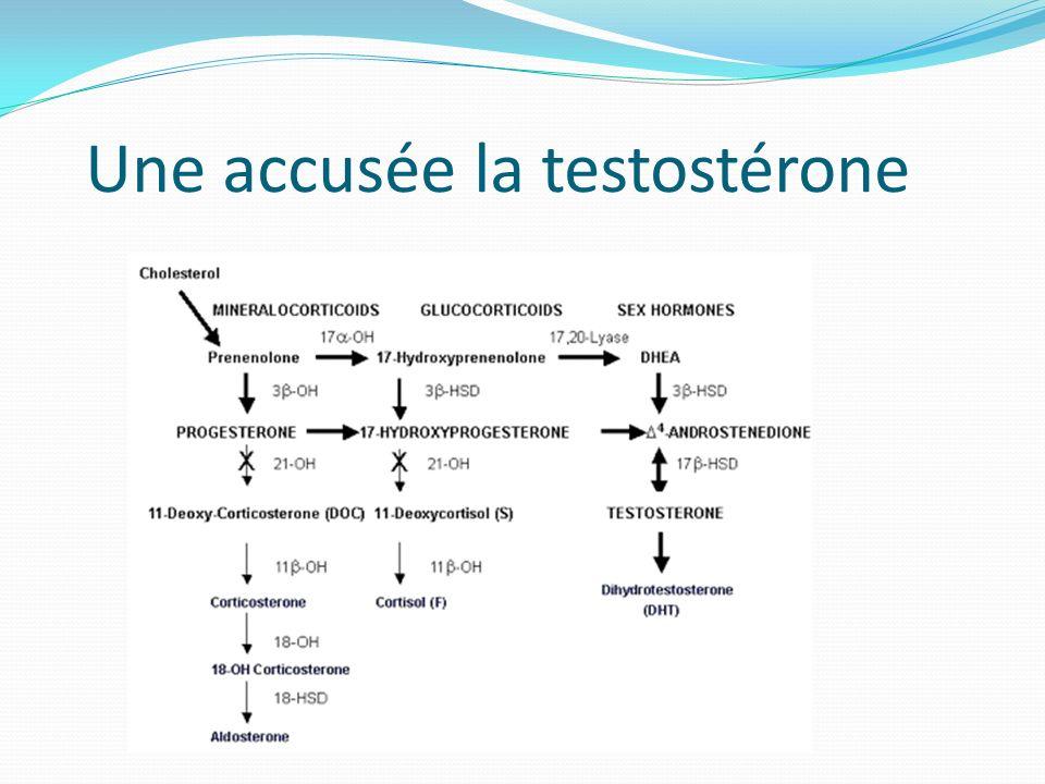 Une accusée la testostérone