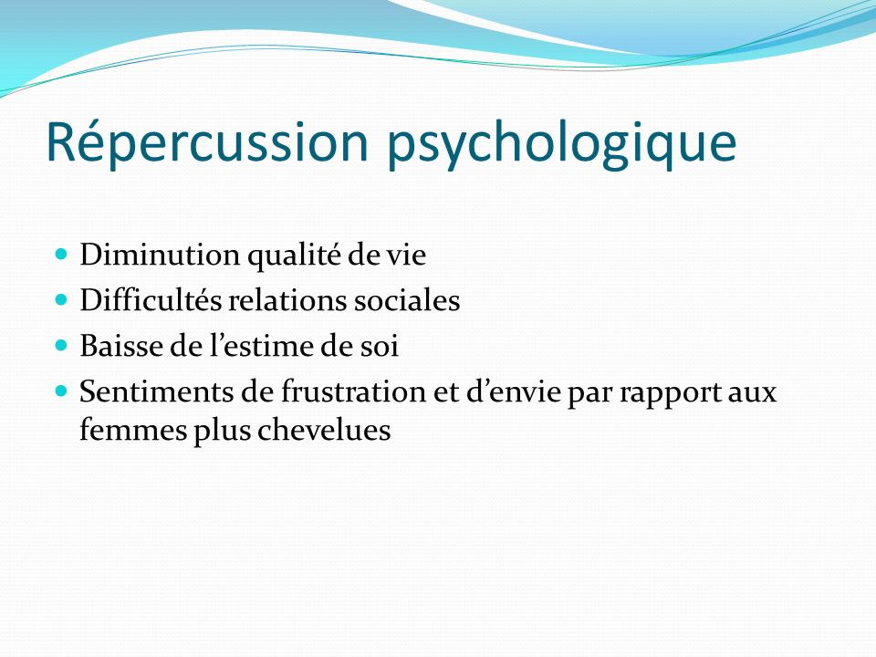 Répercussion psychologique