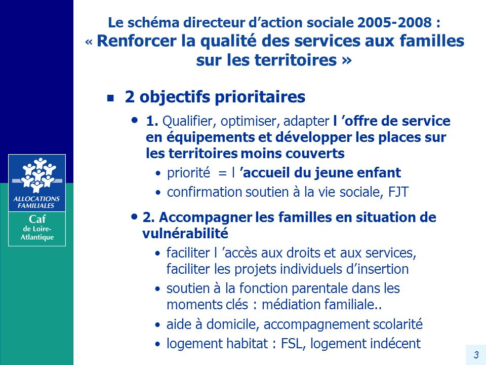 2 objectifs prioritaires