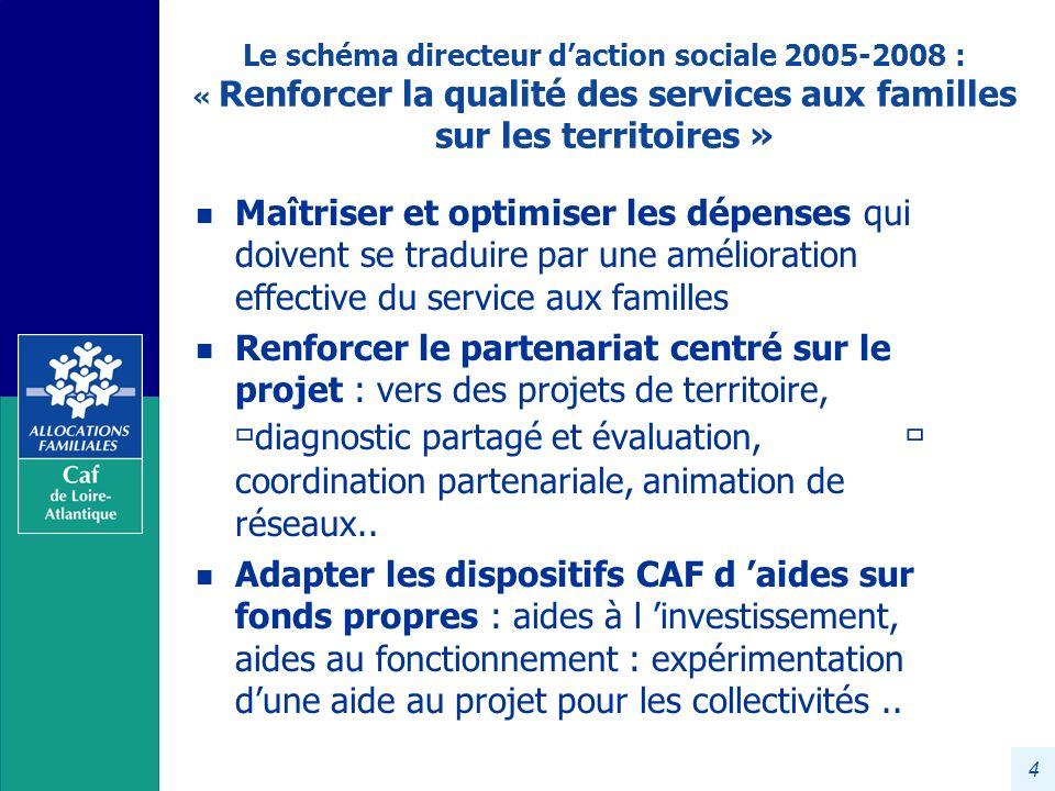 Le schéma directeur d'action sociale 2005-2008 : « Renforcer la qualité des services aux familles sur les territoires »