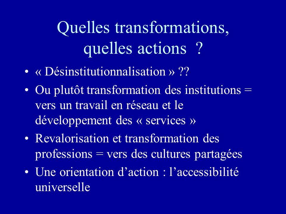 Quelles transformations, quelles actions