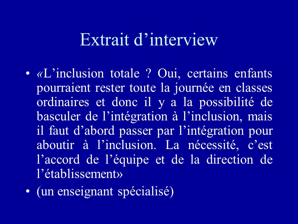 Extrait d'interview