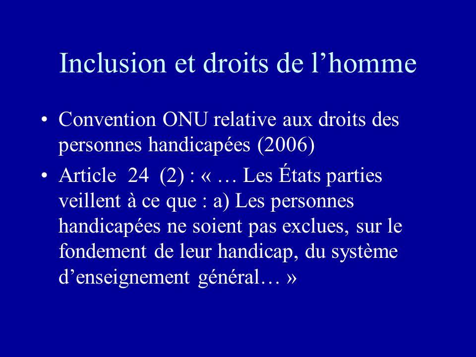 Inclusion et droits de l'homme
