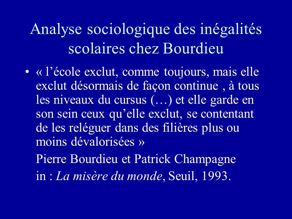 Analyse sociologique des inégalités scolaires chez Bourdieu