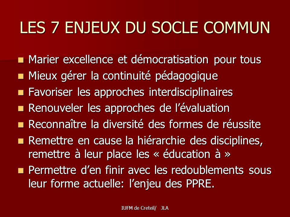 LES 7 ENJEUX DU SOCLE COMMUN