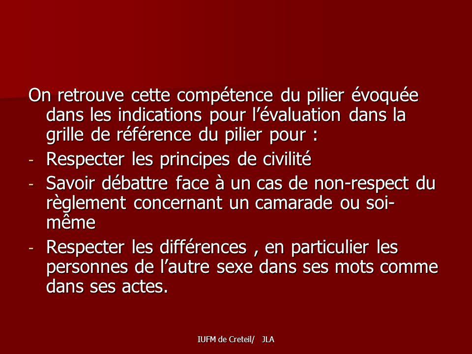 Respecter les principes de civilité