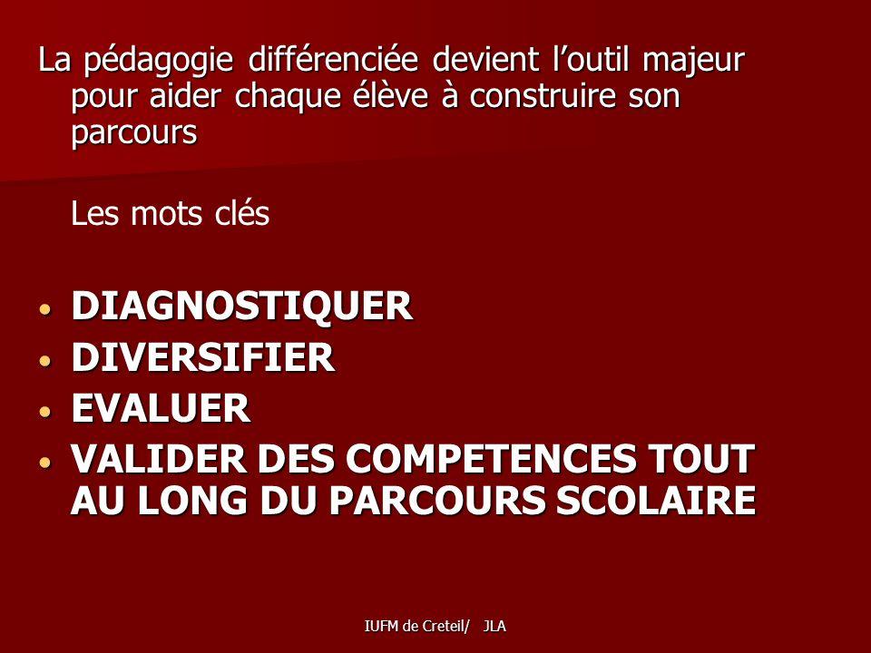 VALIDER DES COMPETENCES TOUT AU LONG DU PARCOURS SCOLAIRE