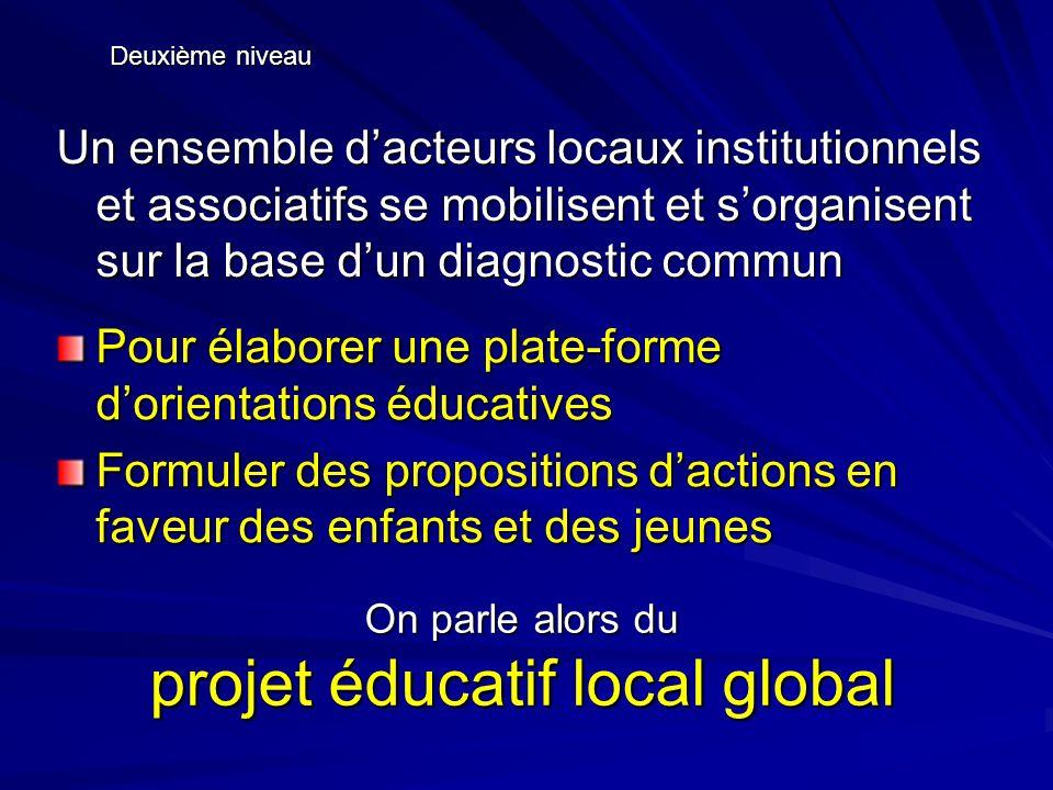 On parle alors du projet éducatif local global