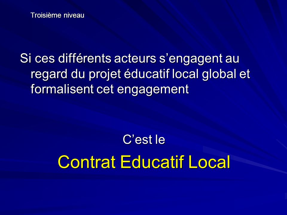 Contrat Educatif Local
