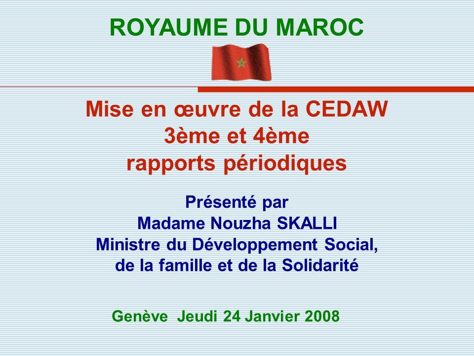 Mise en œuvre de la CEDAW 3ème et 4ème rapports périodiques