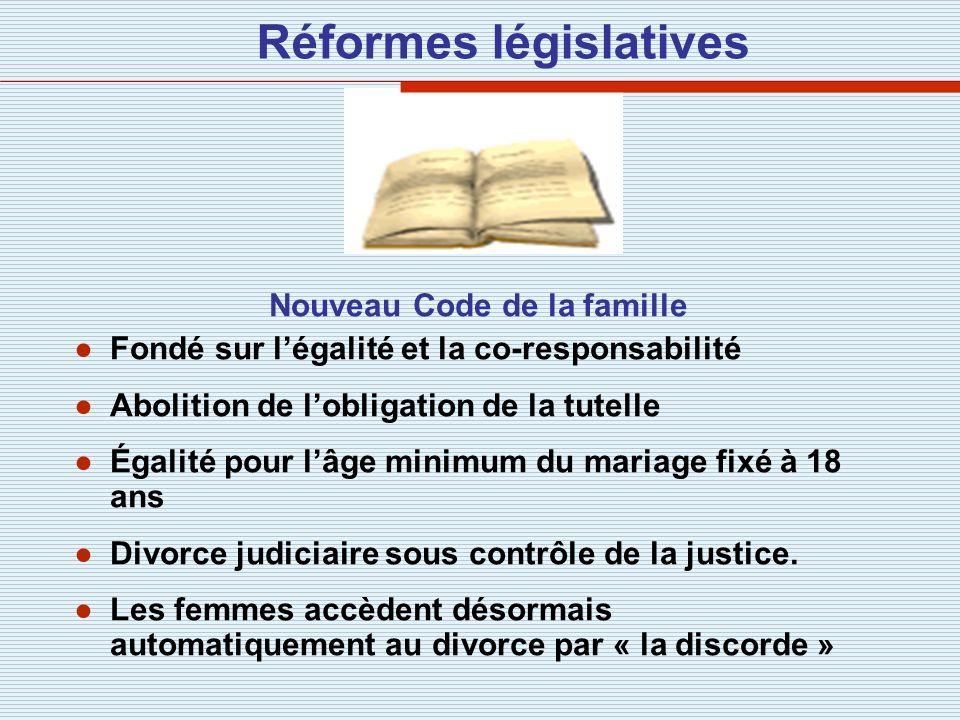 Réformes législatives