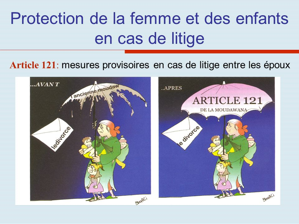 Protection de la femme et des enfants en cas de litige