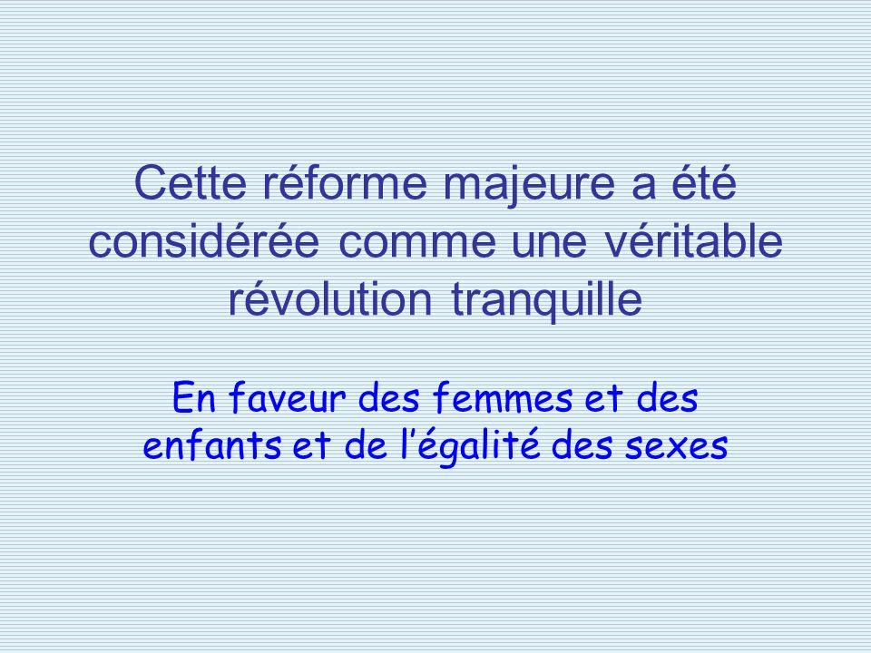 En faveur des femmes et des enfants et de l'égalité des sexes