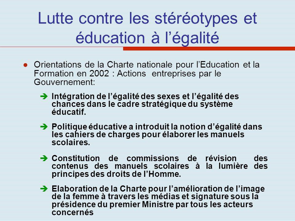 Lutte contre les stéréotypes et éducation à l'égalité