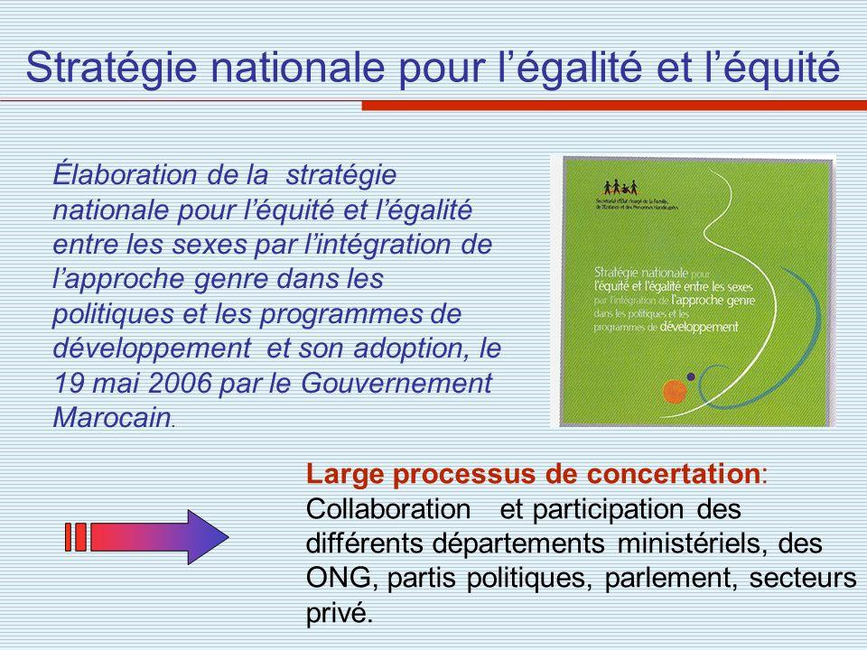 Stratégie nationale pour l'égalité et l'équité