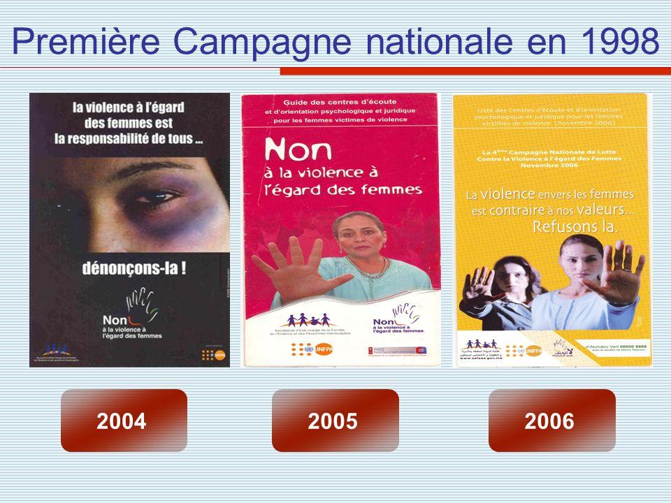 Première Campagne nationale en 1998