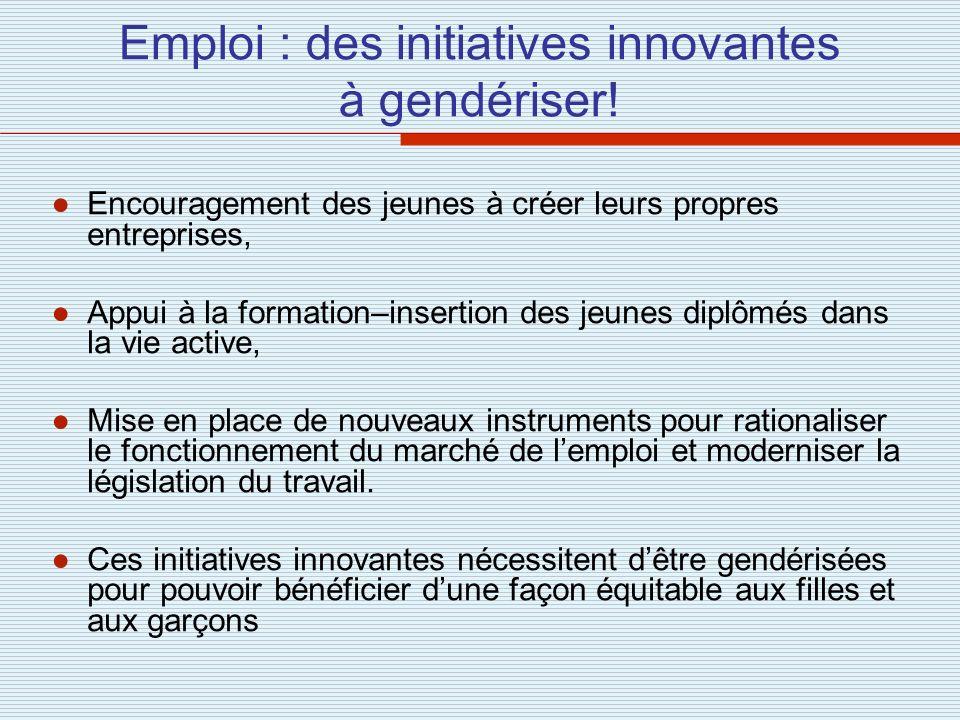 Emploi : des initiatives innovantes à gendériser!