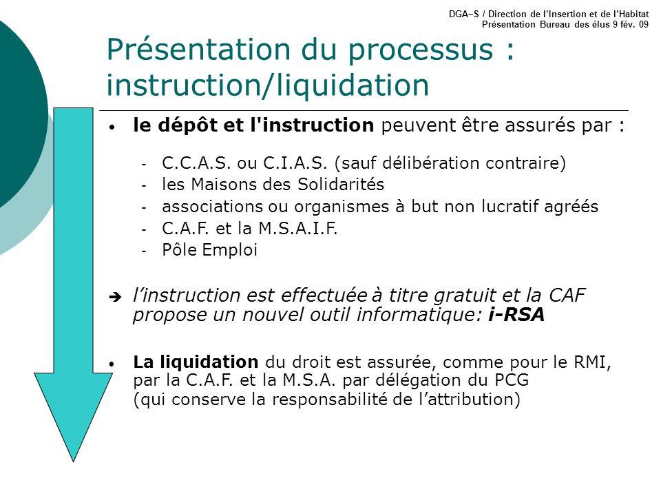 Présentation du processus : instruction/liquidation