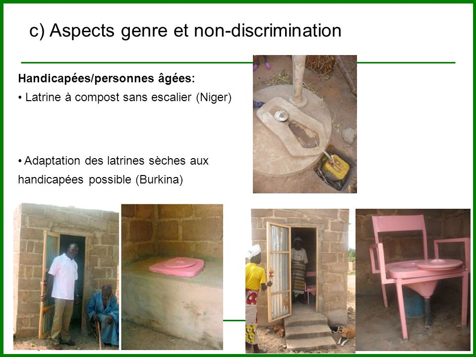 c) Aspects genre et non-discrimination