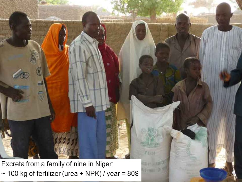 Excreta from a family of nine in Niger: