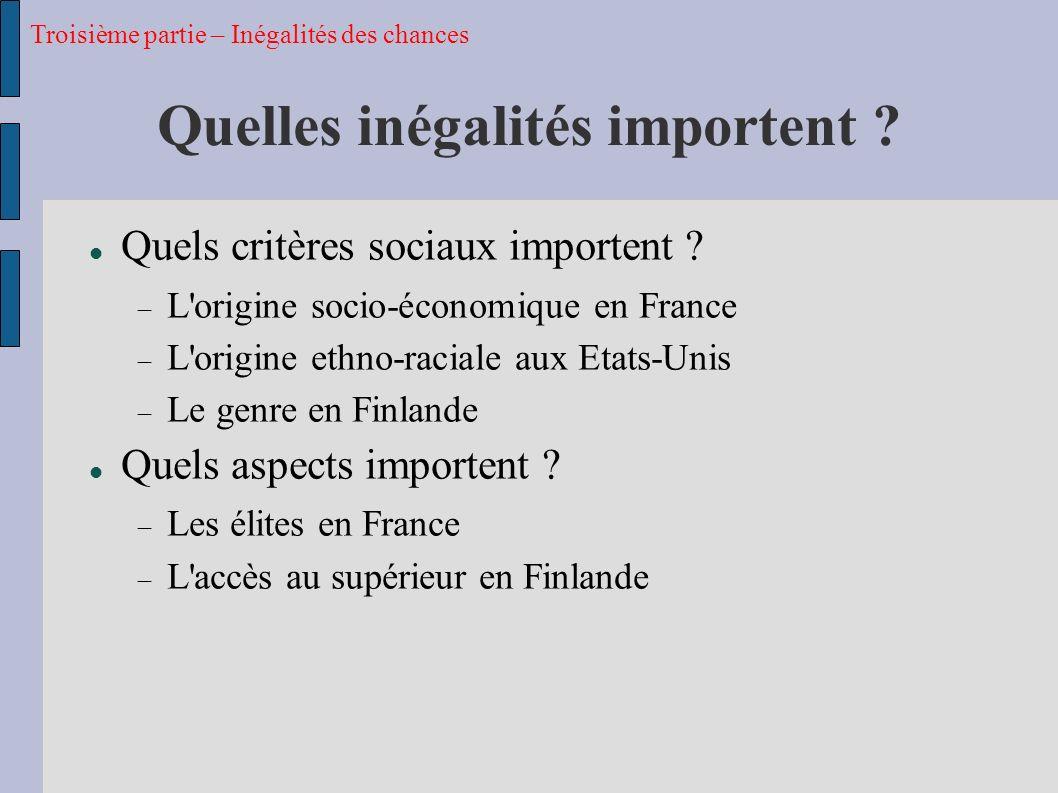 Quelles inégalités importent