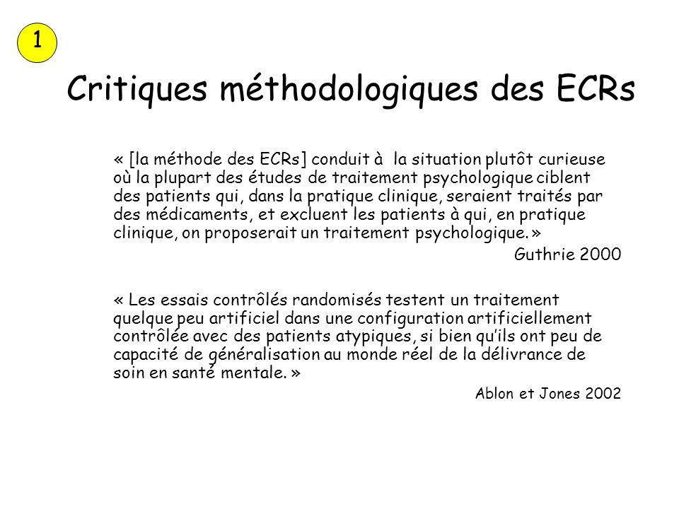 Critiques méthodologiques des ECRs