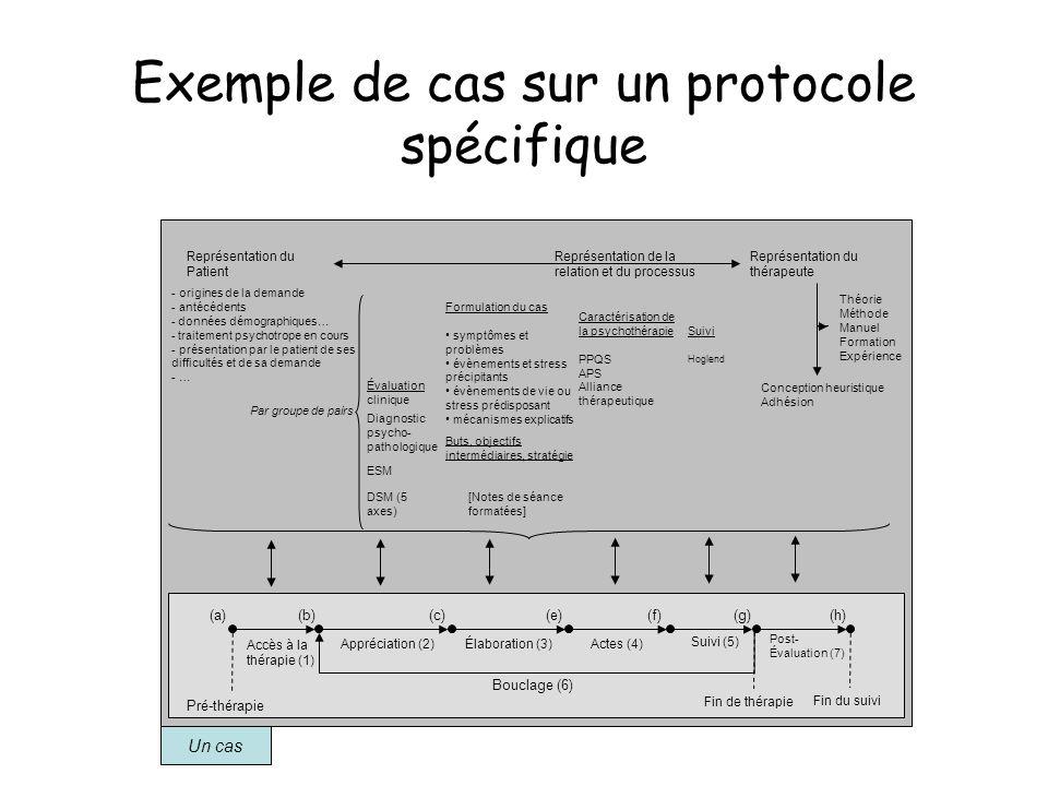 Exemple de cas sur un protocole spécifique