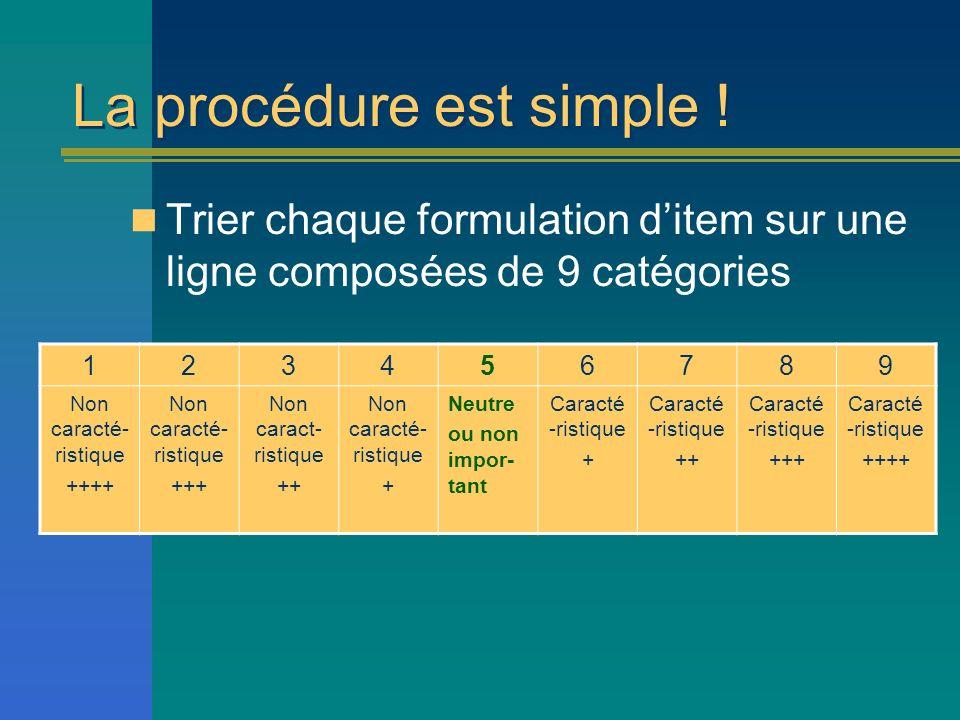 La procédure est simple !