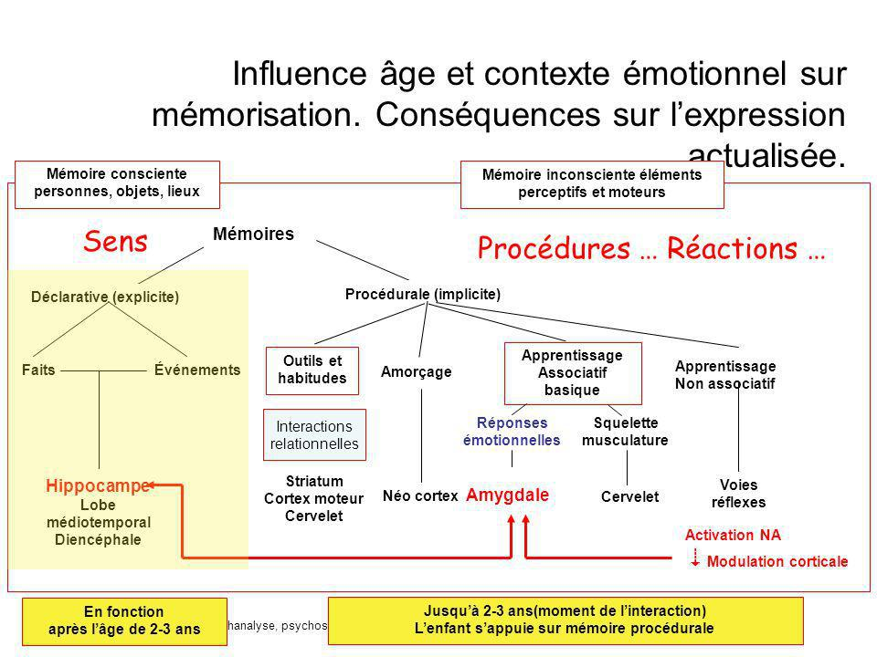 Influence âge et contexte émotionnel sur mémorisation