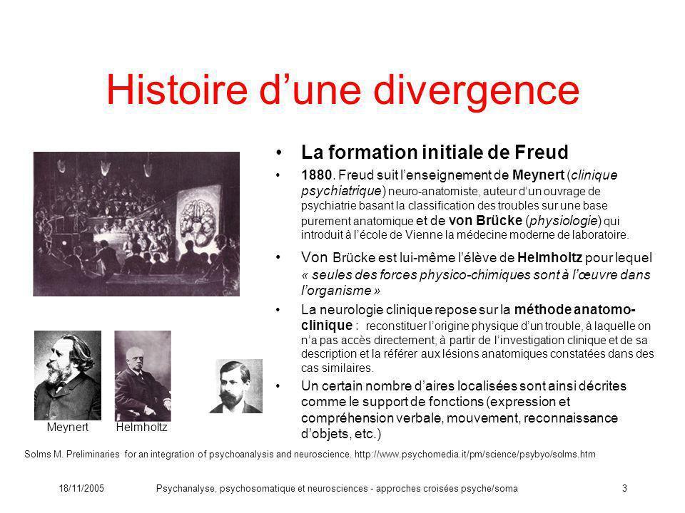 Histoire d'une divergence