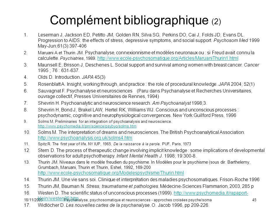 Complément bibliographique (2)