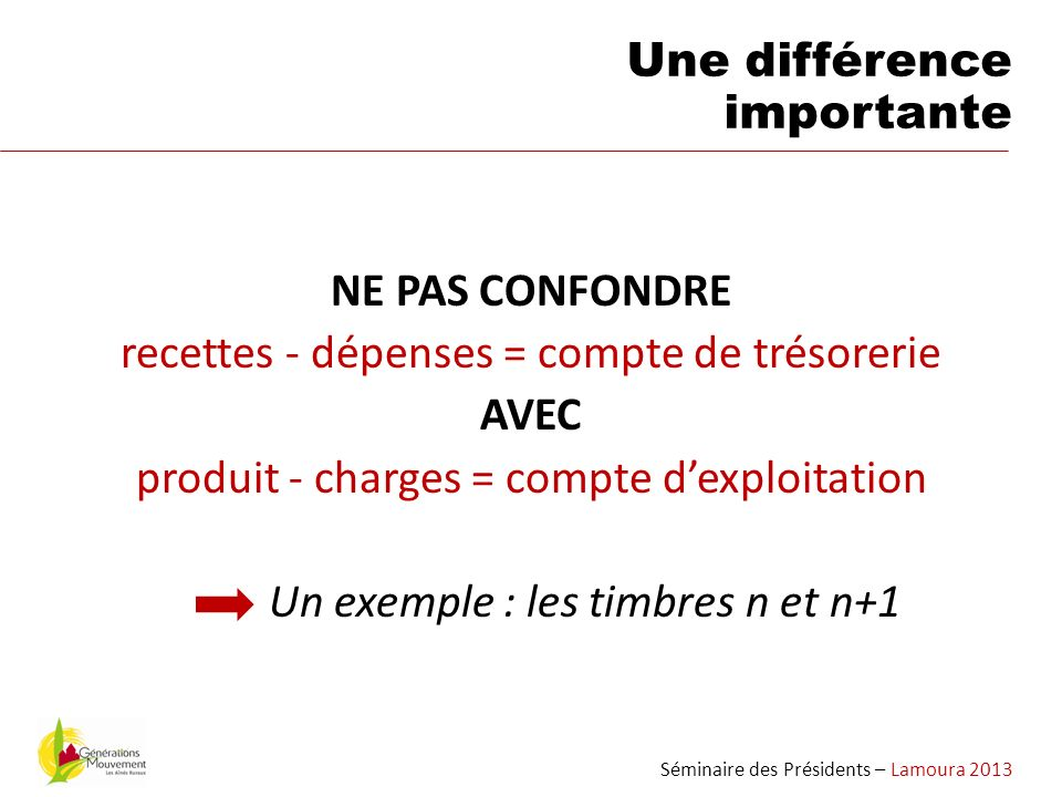 Une différence importante