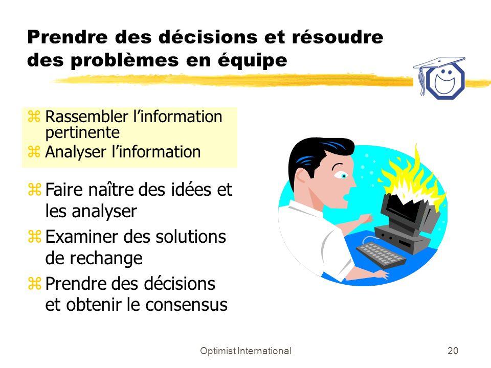 Prendre des décisions et résoudre des problèmes en équipe