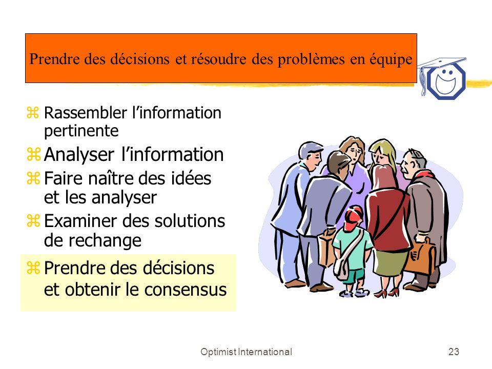 Analyser l'information