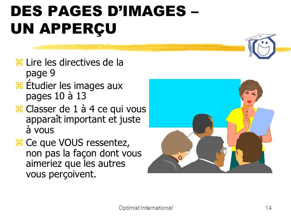 DES PAGES D'IMAGES – UN APPERÇU