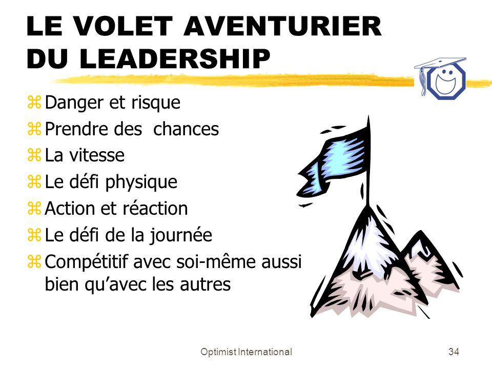 LE VOLET AVENTURIER DU LEADERSHIP