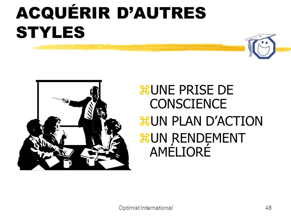 ACQUÉRIR D'AUTRES STYLES