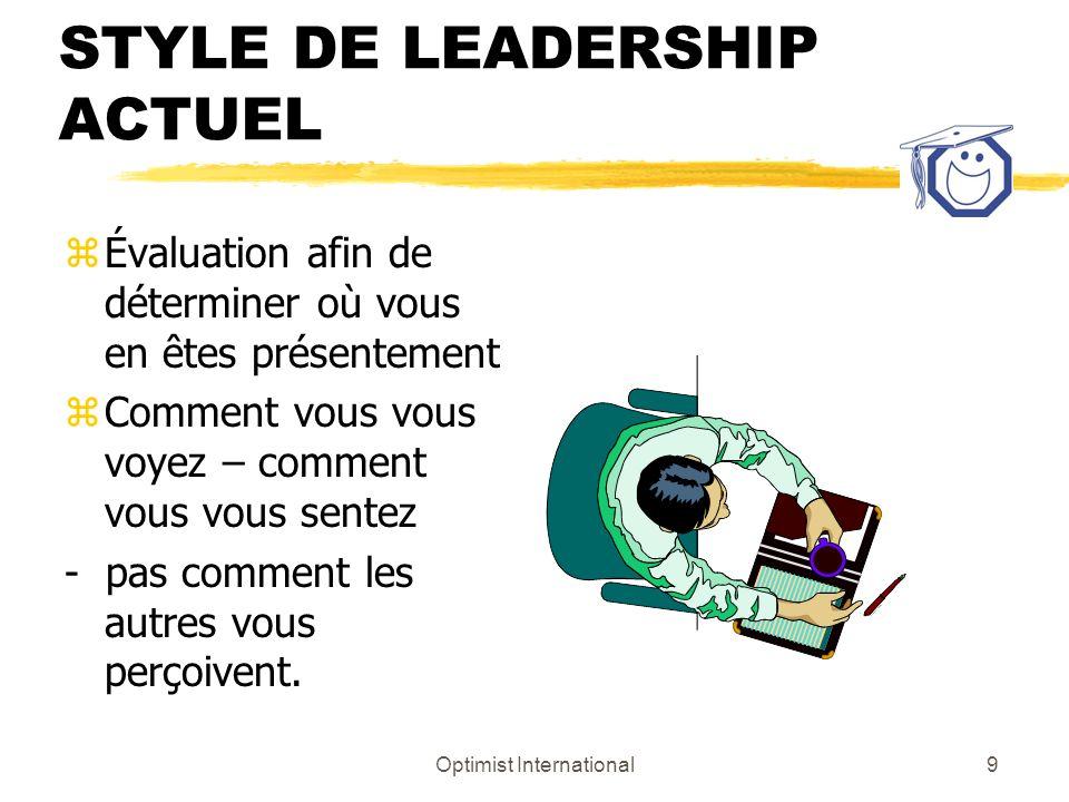 STYLE DE LEADERSHIP ACTUEL